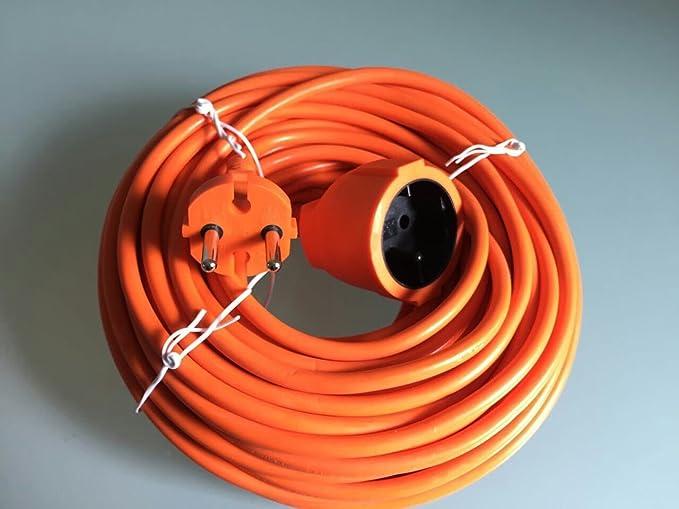 20 m Cable alargador Naranja 20 metros de cable de cortacésped ...