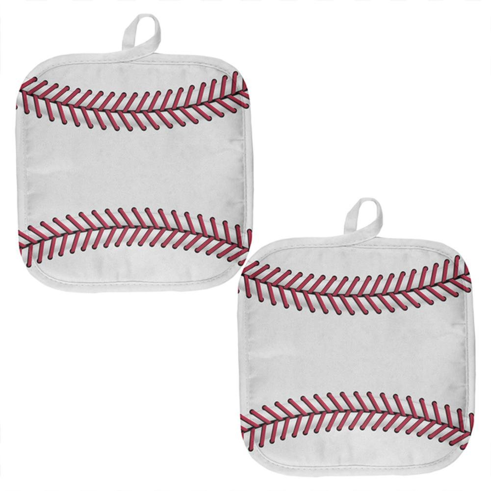 Old Glory Baseball All Over Pot Holder (Set of 2) Multi Standard One Size