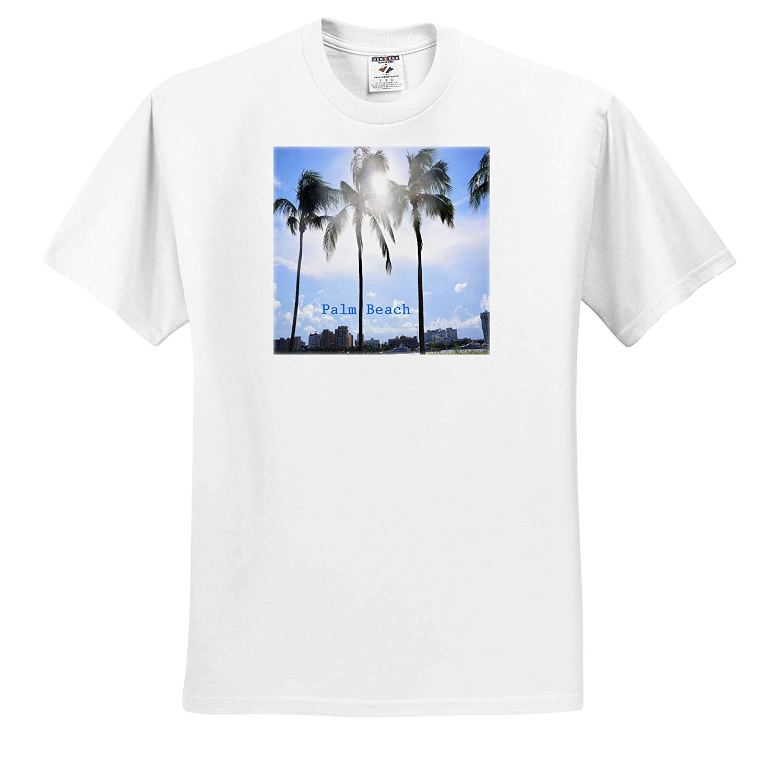 T-Shirts 3dRose Lens Art by Florene Image of Palm Trees at Palm Beach Florida Fantastic Florida
