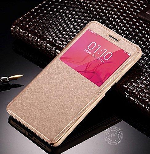 new product e4595 c49ce Ae Mobile Accessorize Cover VIVO V3 SVIEW Window Flip Case Cover - GOLD