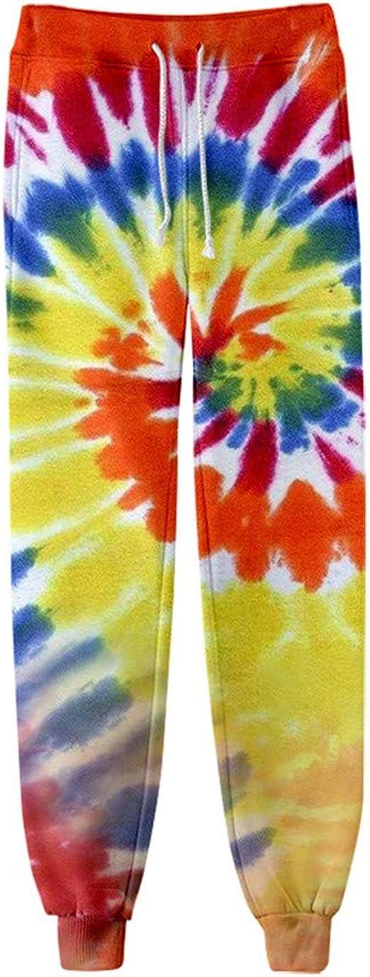 BKDTDYL Pantalones del Tinte del Lazo 3D Impresa de Las ...