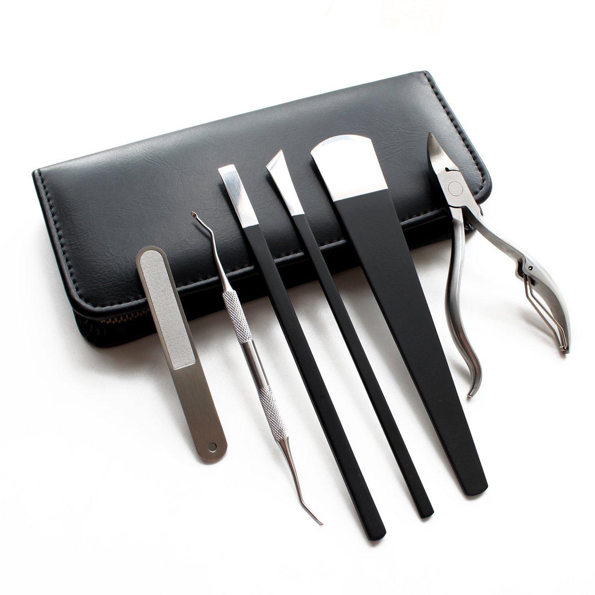 Stainless Steel Pedicure Tools Kit, Professional Manicure Set, Pedicure Knife Kit, Utility Nail Care Set (6 Pcs)