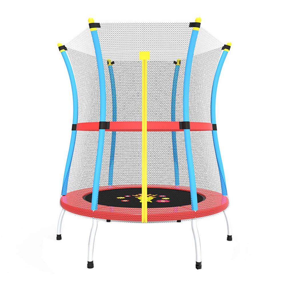 Trampolin, Kids Indoor-Trampolin-Mini-Türsteher mit Gehäusenetz Ø 140 cm - Zusätzliche Sicherheitsfunktionen - Max Load 200KG