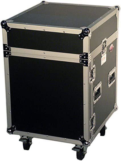 Amazon Com Prox Cases T 12mrss 12 Space Amp Rack Slanted Top 10u Dj Mixer Combo Rack Road Gig Ready Flight Case Musical Instruments