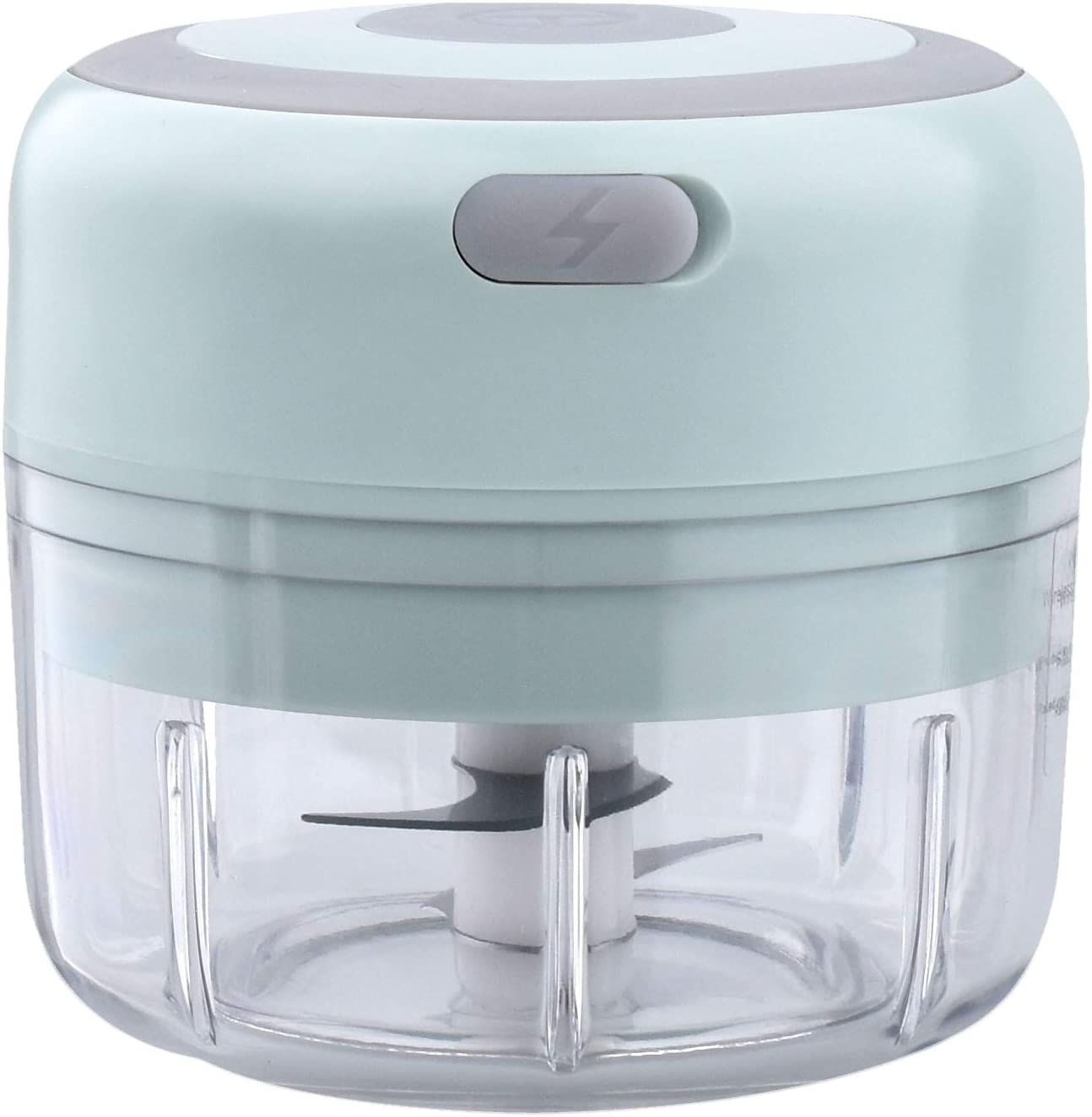 Mini Electric Garlic Crusher Chopper Mincer Squeezer, Food Chopper Compact, Cordless Electric Vegetable Chopper Handheld USB Rechargeable Powerful Blender (100ML)