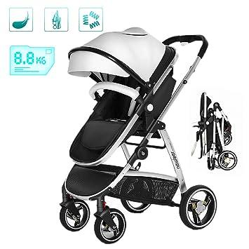 Cochecito de bebé Cochecito Plegable Ligero Buggy de Viaje para bebés, Una Mano Plegable,