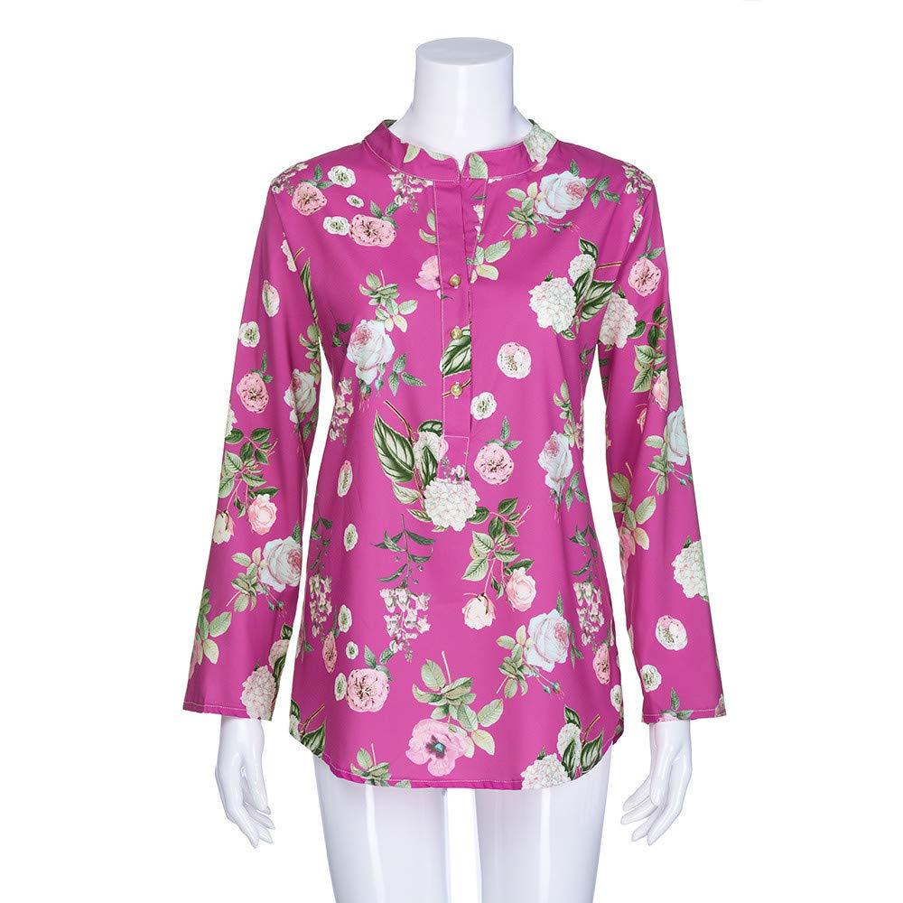 ... Mujeres Caliente Venta Casual Comfort Collar BotóN De ImpresióN Calidad De Manga Larga Camisa De Gran TamañO Camiseta Suelta Camisa Camiseta: Amazon.es: ...
