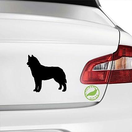 Amazon Com Siberian Husky Dog Decal Sticker Black 5 Inch Home