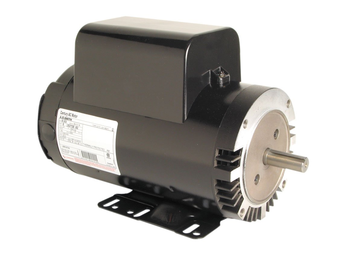 A.O. Smith B182 5 HP, 3600 RPM, 208-230 Volts, 22 Amps, 56HCZ Frame-3/4-Inch Diameter Shaft, CWOSE Rotation, Ball Bearing Pressure Washer Motor