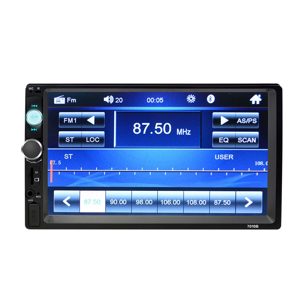 LTD 4347658228 7 Inch Double Din Touch Screen Car Stereo with Bluetooth car Stereo MP5 Player Car Radio Audio car Stereo Player Support SD//USB//AUX//Rear View Camera//Remote Control ShenzhenTianken Electornics Co