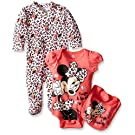 Disney Baby Girls' Minnie Mouse 3 Piece Layette Set