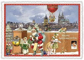 Bilder Weihnachten Nostalgisch.Nostalgische Weihnachtskarte Weihnachten In Köln Amazon De