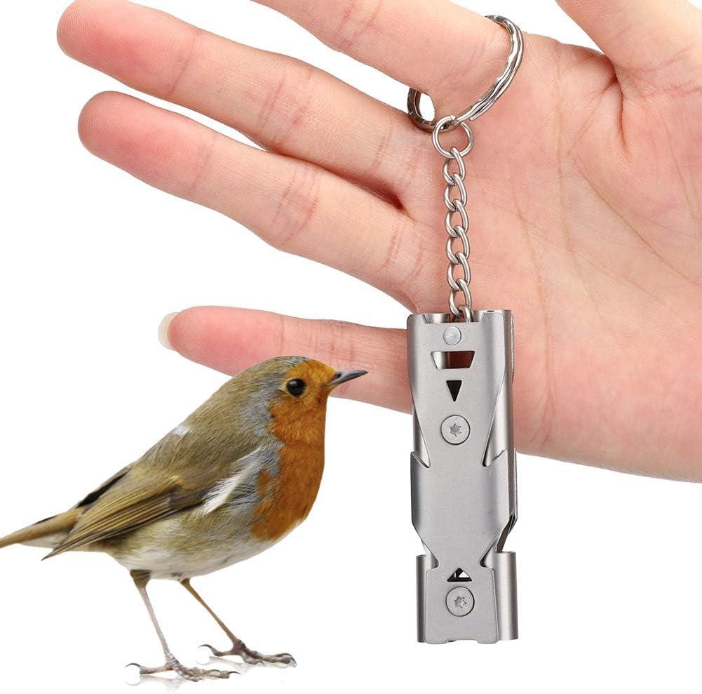 para la Tienda de Mascotas Silbato de Entrenamiento de Metal AMONIDA Ligero y port/átil Silbato de Entrenamiento para p/ájaros en Voz Alta Herramienta Bird Back to Birdhouse