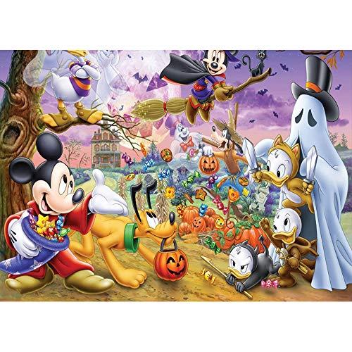 Mickey Mouse Halloween Pumpkin Ideas (Evil Halloween Circus Carnival Backdrop 7x5 Cartoon Pumokin Patch Halloween Background Birthday White Ghost Mickey Mouse Photo Backdrop for Halloween Party)