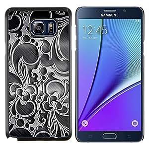 YiPhone /// Prima de resorte delgada de la cubierta del caso de Shell Armor - Papel pintado de la decoración del diseño del arte del Interior - Samsung Galaxy Note 5 5th N9200
