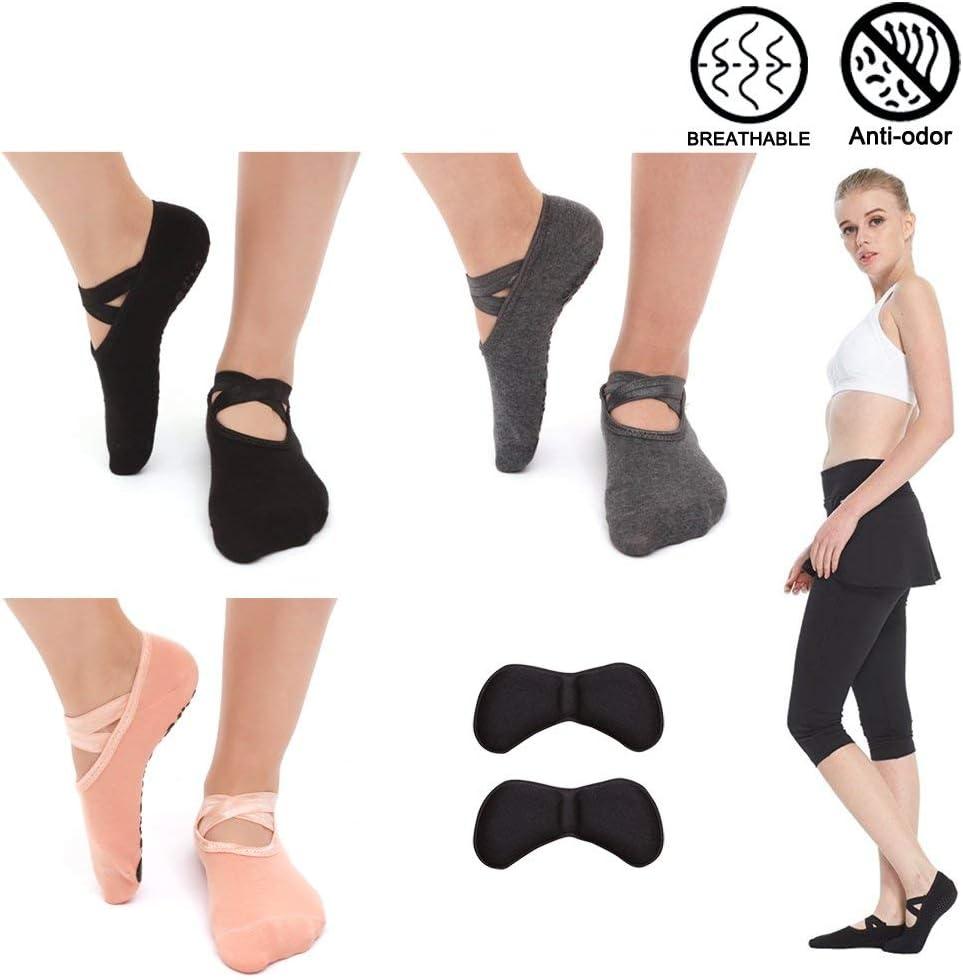 SwirlColor Non Slip Yoga Pilates Fingerless Exercise Grip Gloves Socks