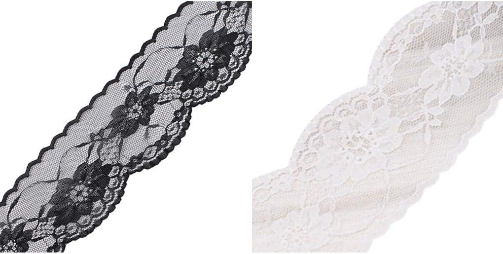 Fornateu Que Envuelve la Cinta de Flores Adornos de Encaje Vestidos de Cuello Bolsa Prendas Pasamaner/ía Flor de Costura DIY Apliques