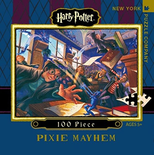 New York Puzzle Company - Harry Potter Pixie Mayhem Mini - 100 Piece Jigsaw Puzzle
