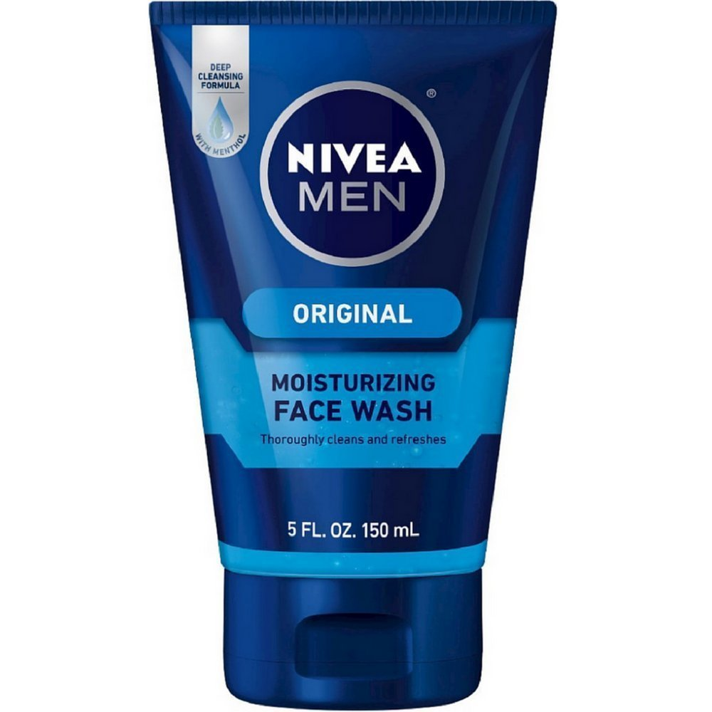 NIVEA FOR MEN Original Moisturizing Face Wash 5 oz Pack of 6