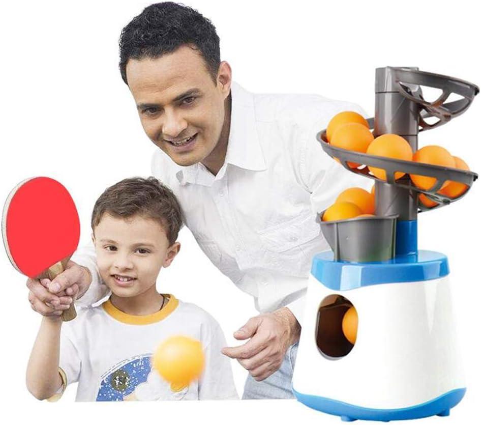 Automática Robot de Entrenamiento de Tenis de Mesa Material de PE Fácil de Instalar Puede Contener 15 Bolas para Entretenimiento Infantil, interacción, Ejercicio, Principiantes.