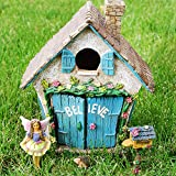Fairy Garden Believe House Miniature Set of 4 pcs, Premium Quality Hand Painted Kit For Outdoor, Indoor, Flat Decor, By Mood Lab