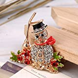 MinElect(TM) Gorgeous Crystal Rhinestone Christmas Snowman Brooch Pin Cute Xmas Gift