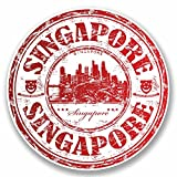2 x Singapore Luggage Travel Stickers