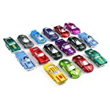 Metal Alloy Car Toy Racer Model 1:64 Collection Play Set Ideal Gift for Boys Girls Kids 16pcs(Random Style)