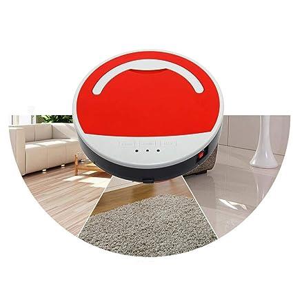 Vinteky®Robot Aspirador Autónomo(diámetro 286 mm, AC110-240V) (Rojo)