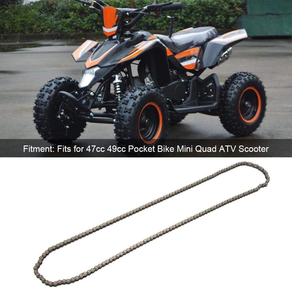 Gorgeri 158 maillons cha/îne 25H 158 liens cha/îne en acier inoxydable convient pour 47cc 49cc Pocket Bike Mini Quad ATV Scooter