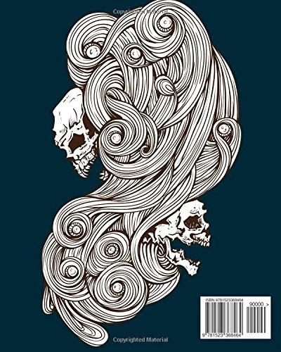 Tattoo Coloring Book : Day of The Dead Skull Inspired: Dia De Los Muertos Skull,Sugar Skulls Design,Coloring Books for…