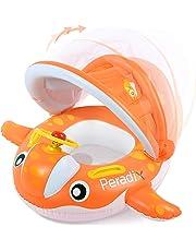 Peradix Piscina Salvagente per Bambini con Tettuccio e Mutandina Baby Float (Arancione-Bianco)