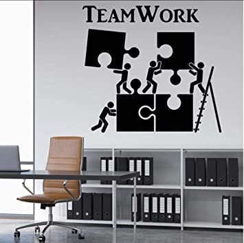 Teamwork Motivation Office Worker Wandtattoos Home Interior Decor Teamwork Wandtattoos Verfugbare Art Wallpaper 56x60cm Amazon De Baumarkt