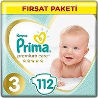 Prima Bebek Bezi Premium Care 3 Beden Midi Fırsat Paketi, 112 Adet