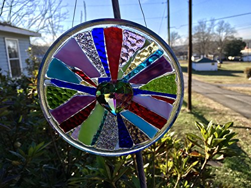 Heart Stained Glass Window Art sun catcher by Mountain Mosaics (Image #2)