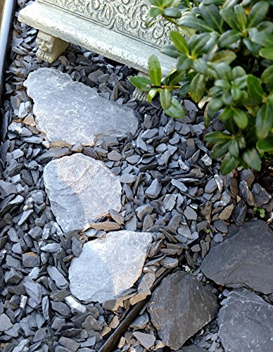 Natural Slate Stone - 1/8 to 1/4 inch Slate Gravel for Miniature or Fairy Garden, Aquarium, Model Railroad & Wargaming 1lb by Small World Slate & Stone (Image #3)