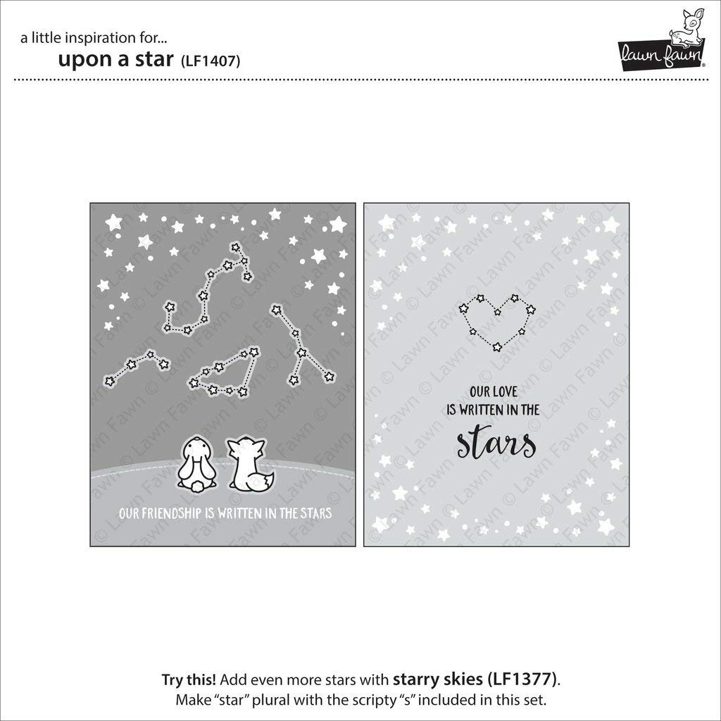 LF1407 Lawn Fawn Clear Stamps 4X6-Upon A Star