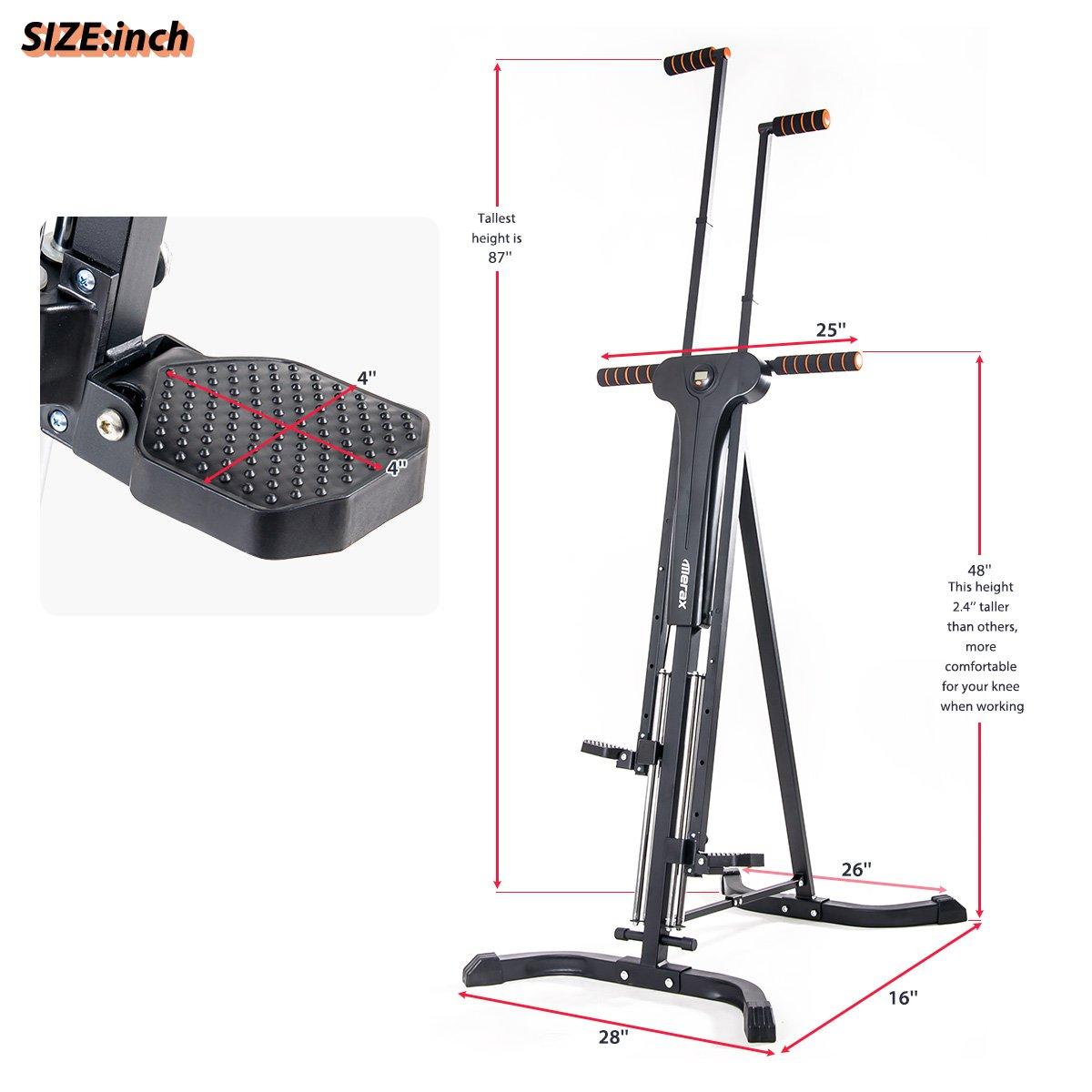 Merax Vertical Climber Fitness Climbing Cardio Machine Full Total Body Workout Fitness Folding Climber 2.0 (Black) by Merax (Image #7)