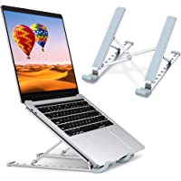Laptop Stand, Laptop Holder Riser Computer Stand, Aluminum 9-Angles Adjustable Ventilated Cooling Notebook Stand Mount…