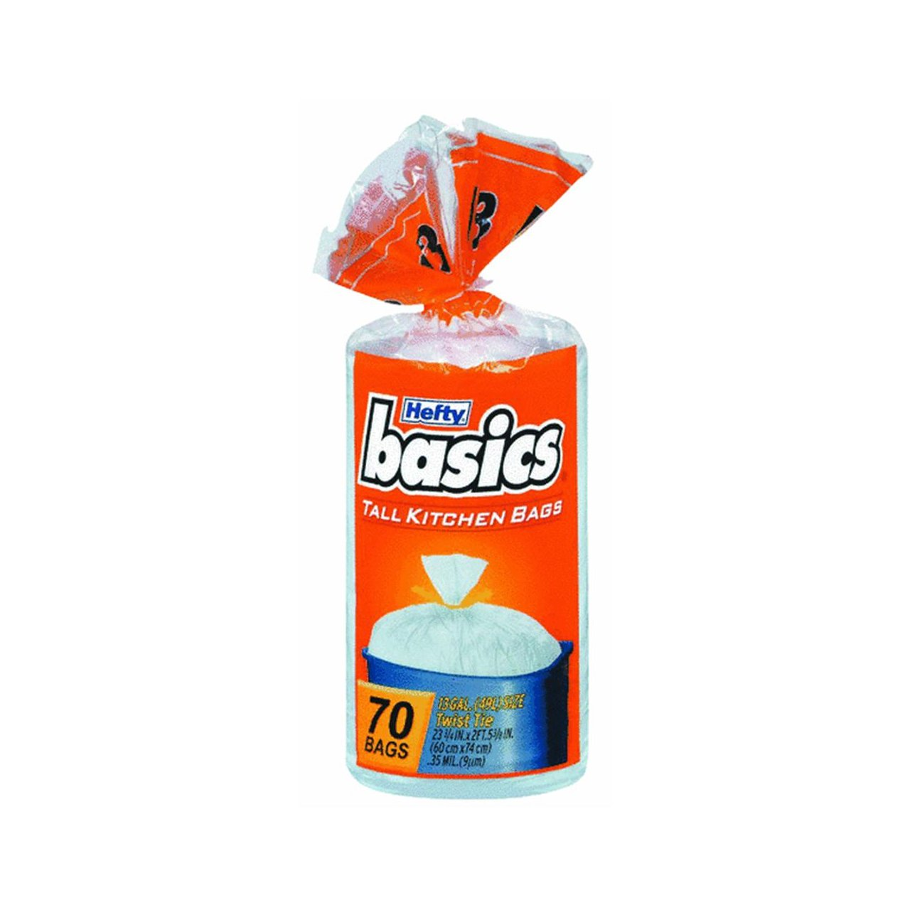 Amazon.com: Hefty E50370 13 Gallon Basics Tall Kitchen Bags 70 Count ...