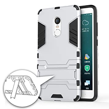 German Tech Cool Shield - Funda híbrida para Xiaomi Redmi Note 4X, Color Plata