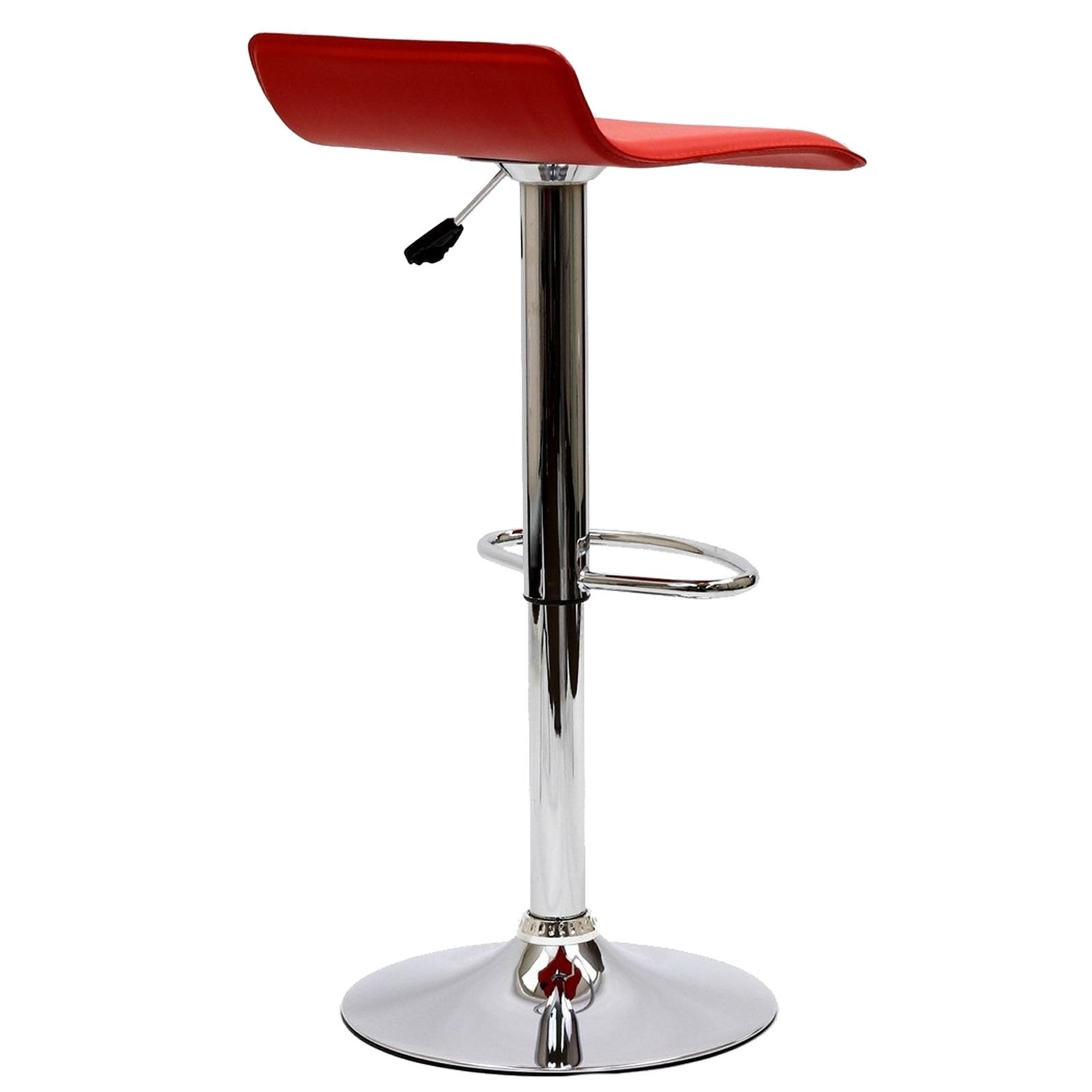 Modway Gloria Retro Modern Faux Leather Bar Stools in Red by Modway (Image #6)