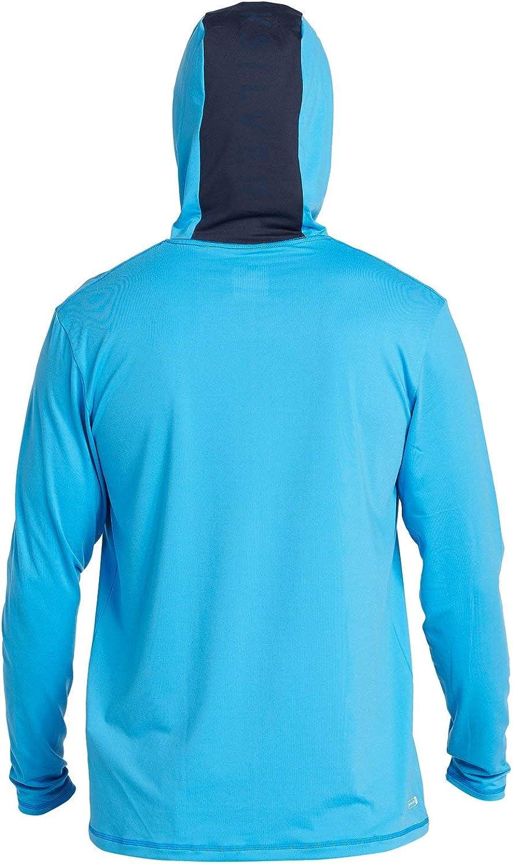 Quiksilver Mens Dredge Ls Hooded Long Sleeve Rashguard Surf Shirt Rash Guard