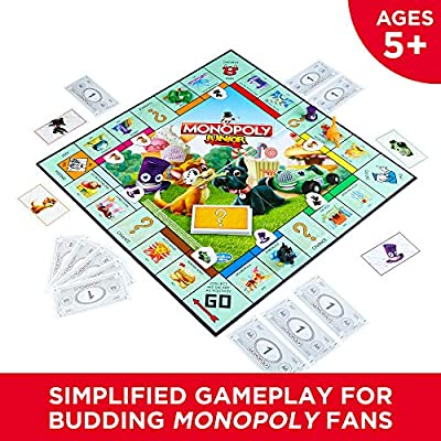Hasbro Monopoly Junior Board Game, Ages 5 and up ( Exclusive): Toys & Games