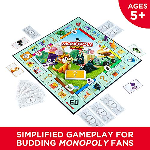 Monopoly Junior Board Game, Ages 5 and up (Amazon Exclusive) by Hasbro Gaming (Image #1)