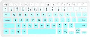 Keyboard Cover with Dell Inspiron 13 5000 7000 5368 5370 5378 5379 7368 7372 7373 7375 7378 7380 7386 /Inspiron 15 5000 7000 5568 5578 5579 5585 5591 7569 7570 7573 7579 7580 7586-Ombre Hot Blue