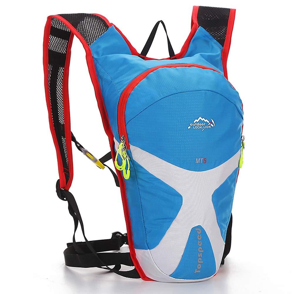 lumièrebleu  LEIAZ 5L Sac A Dos Sac de Montagne Imperméable Etanche avec Housse De Pluie pour Alpinisme Randonnée Trekking Camping Voyage