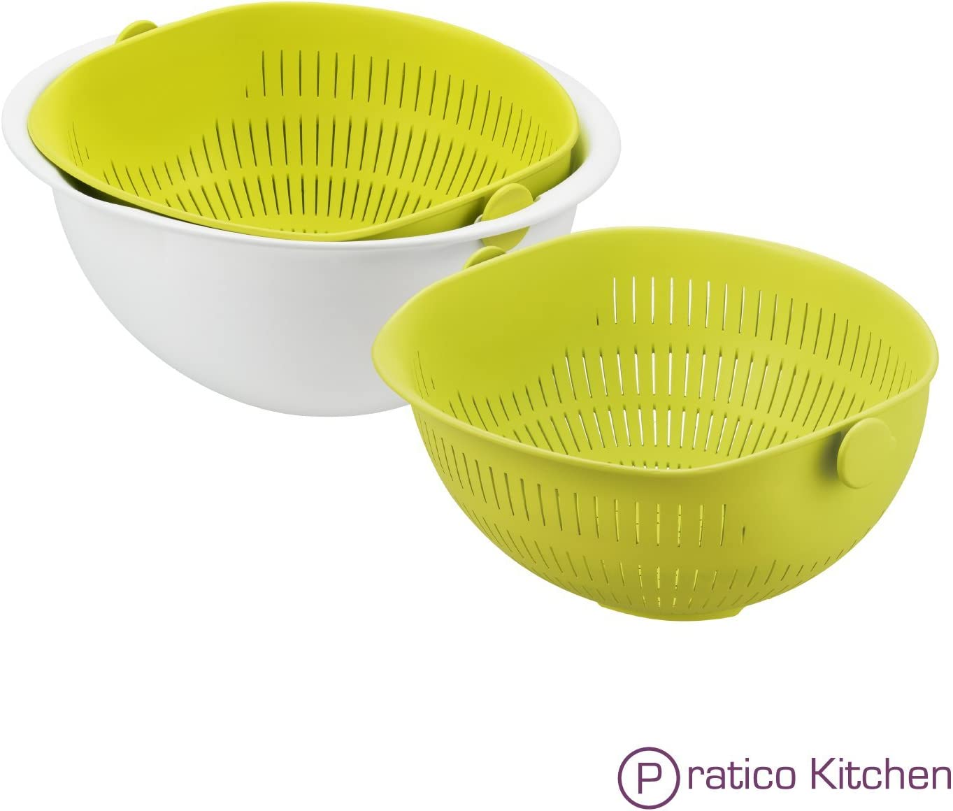 2in1 MIXING BOWL WITH SIEVE 3 ASST COLOURS