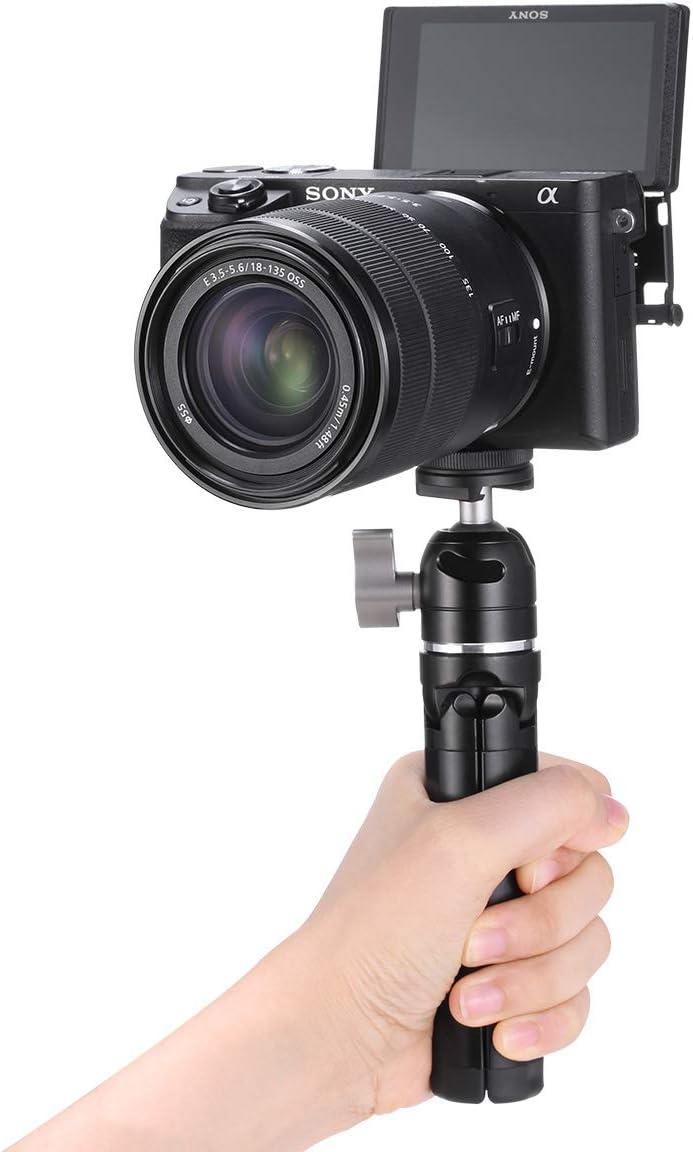 Mini Handheld Tripod for Camera DSLR 1//4 Screw for DJI OSMO Mobile 3 Desk Tripod Video Monopod Accessories for iPhone 11 Max Pro etc Smartphone Clamp
