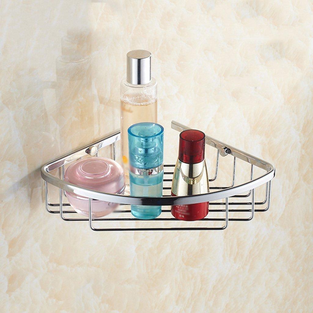 A LUHEN Bathroom Double Tripod Full Copper Storage Rack Wall Hanging Basket Shelf (Size   B)